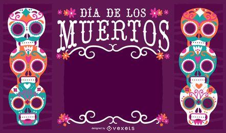 Marco de México Día de los Muertos