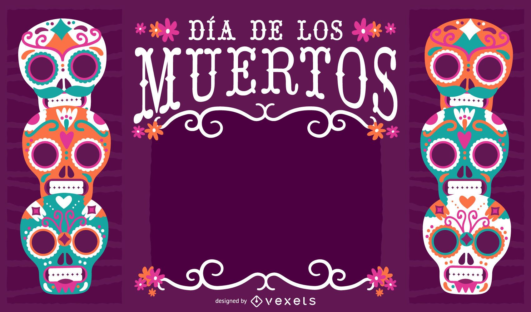 Mexico Dia De Los Muertos Frame Vector Download