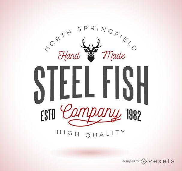 Vintage hipster logo template