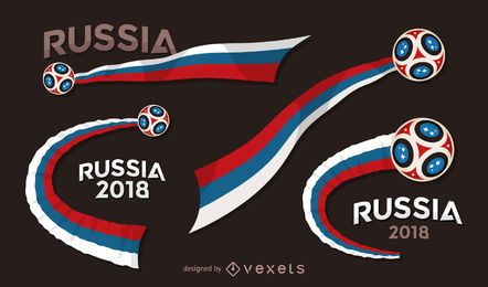 Rússia 2018 conjunto de bandeira de Copa do mundo