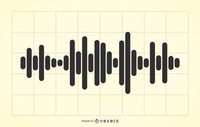 Audio waves illustration