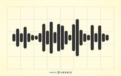 Ilustração de ondas de áudio