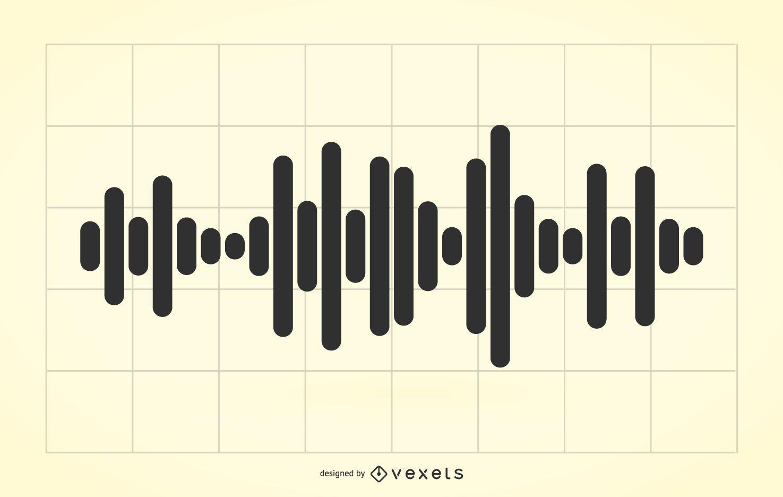 Ilustración de ondas de audio