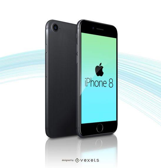 Plantilla de maqueta de Apple iPhone 8