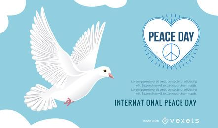 Internationaler Peace Day-Plakatmacher