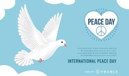 Produtor de pôsteres do Dia Internacional da Paz