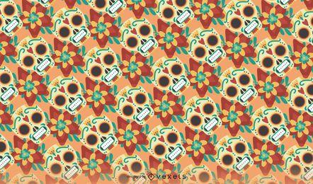 Nahtloses Muster des Tages der Toten