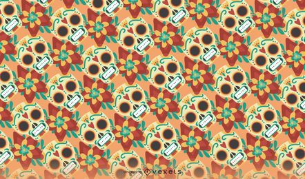 Seamless Day of the Dead pattern