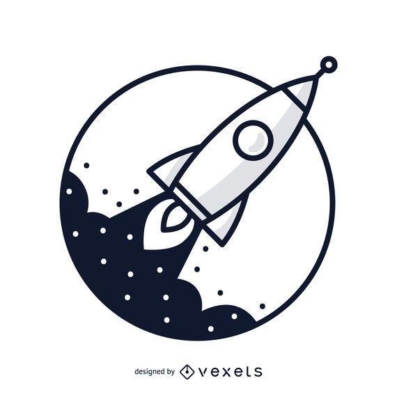 Ilustración del cohete del movimiento