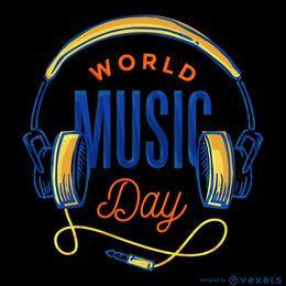 Cartel del Día Mundial de la Música.