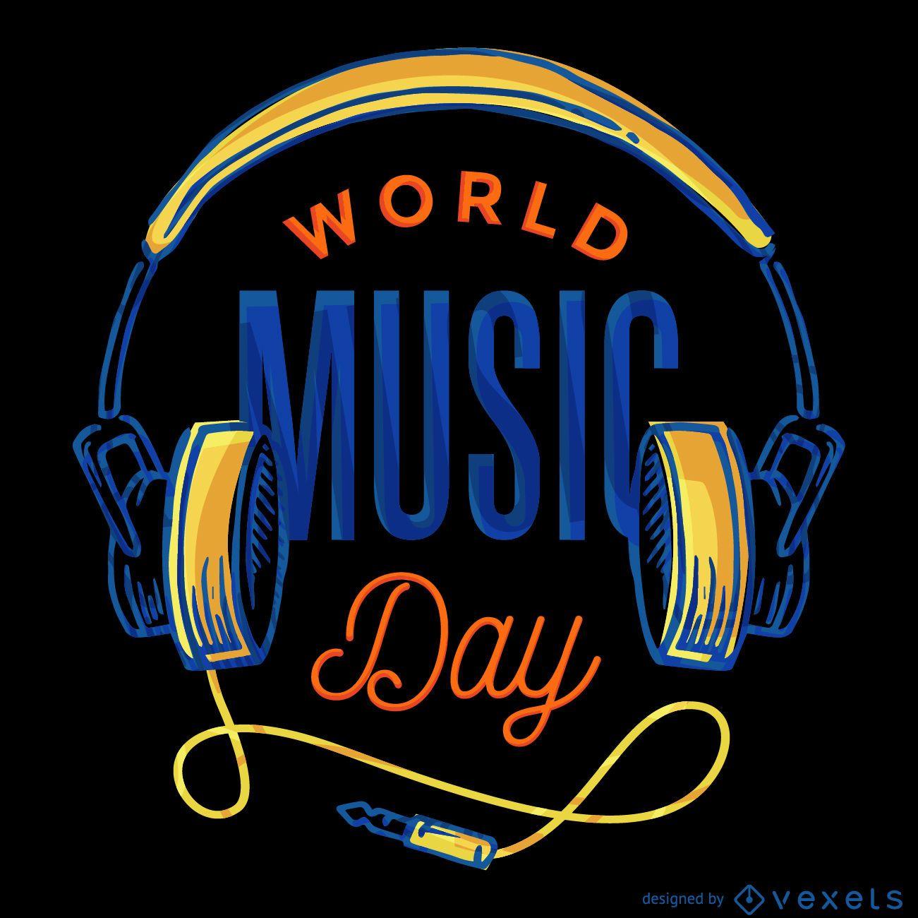 Cartel del Día Mundial de la Música