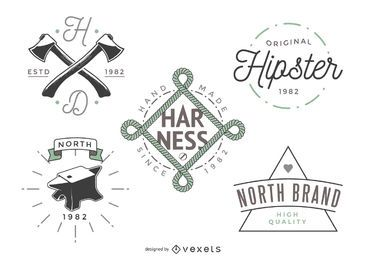5 hipster logo templates