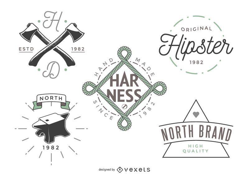 5 modelos de logotipo do hipster