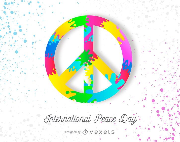 Colorful Peace Day Poster Design Vector Download