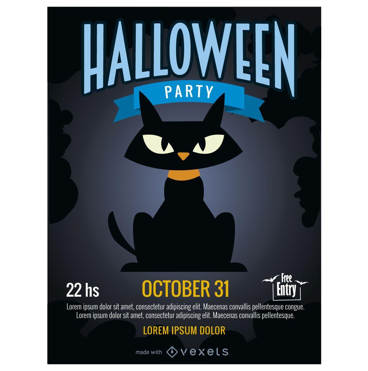 Creador de carteles de fiesta de Halloween
