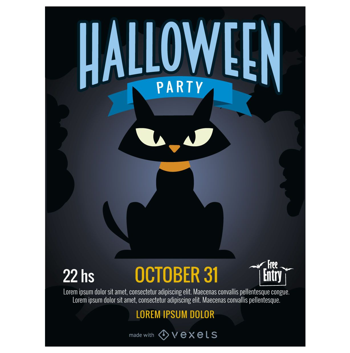halloween party poster maker editable design. Black Bedroom Furniture Sets. Home Design Ideas