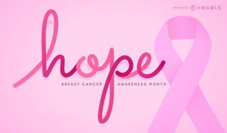 Signo de esperanza para el mes de concientización sobre el cáncer de mama