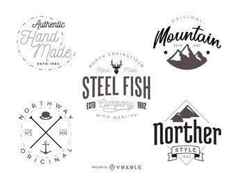Hipster-Logo-Vorlagenpaket