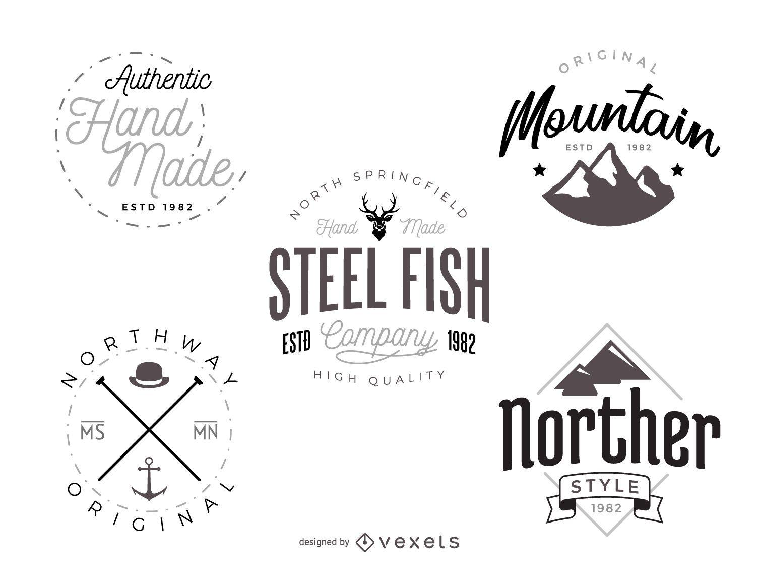 Paquete de plantillas de logotipo hipster