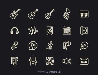 Coleção de ícones de música