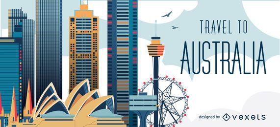 Reisen Sie nach Skyline von Australien