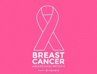 Mês Minimalista Da Consciência Do Cancro Da Mama