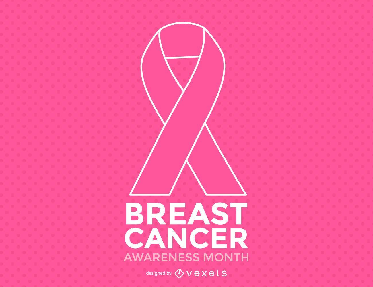 Mes minimalista de concientización sobre el cáncer de mama