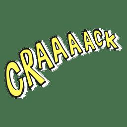 Ilustração de crack
