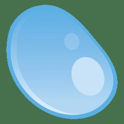 Ilustração redonda de gotículas