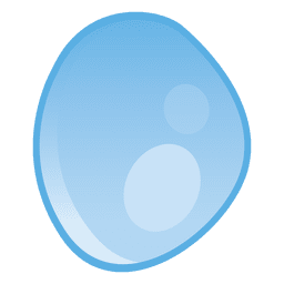 Droplet rounded illustration