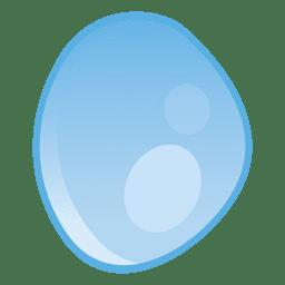 Ilustración de gota redondeada
