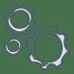 Ilustração de engrenagens