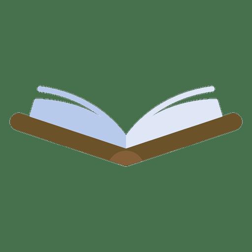 Vector de icono de libro abierto