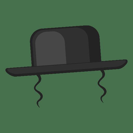 Ilustración de sombrero de rabino Transparent PNG