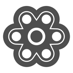 Six shooter spinner graphic