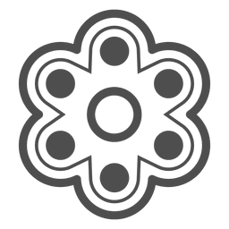 Six shooter spinner graphic inverted