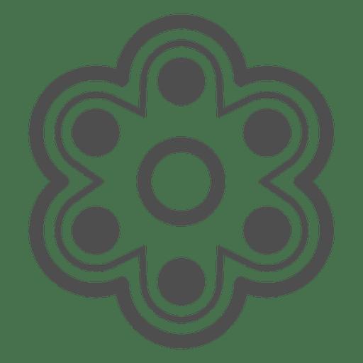 Gráfico de girador de seis atirador invertido Transparent PNG