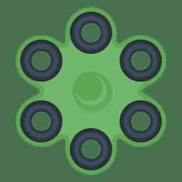 Ilustração de girador de seis atirador