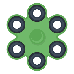 Six shooter spinner illustration
