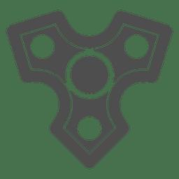 Dreiköpfige scharfe Grafik des Schützen