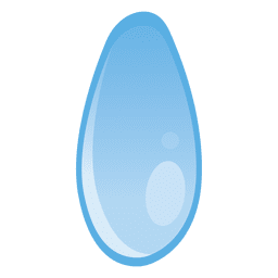 Water drop ellipse illustration