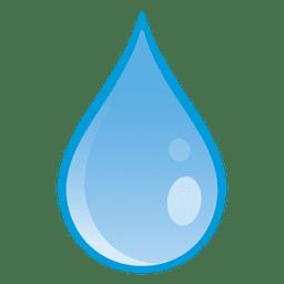 Gota de agua cayendo ilustración