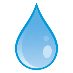 Water drop falling illustration
