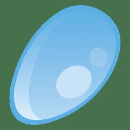 Ilustración de gota de agua ovalada