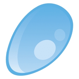 Water drop oval illustration