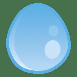 Gota de água rodada ilustração