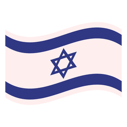 Israel flag illustration