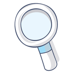 Magnifying glass illustration hand drawn