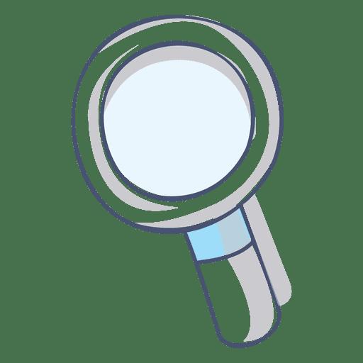 Magnifying glass illustration hand drawn