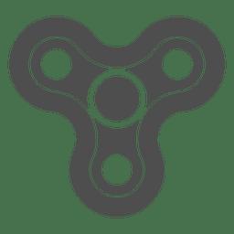 Grafico de tres tiradores spinner